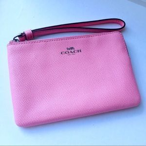 Coach Darcy Leather Small Wristlet
